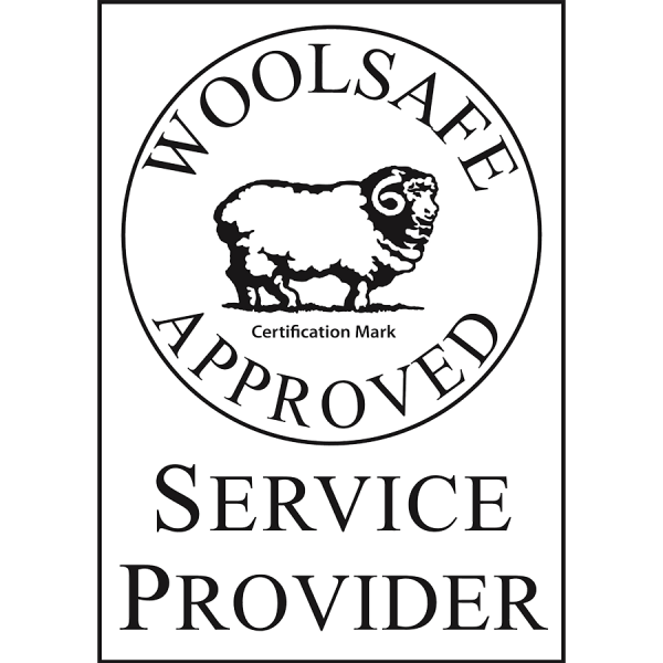 Accreditations and Awards - Woolsafe Service Provider B_W Mark - Nice Threads Carpet Cleaning